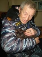 Владимир Деревянко с Багирой