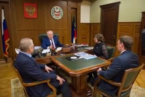 Встреча с Главой Правительства Республики Хакасия В.М.Зиминым